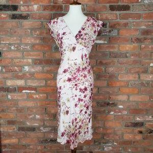 Jonathan Martin Floral Midi Dress